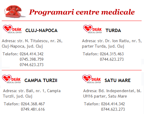 Programari Centre medicale Deak Medical Center